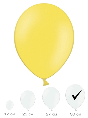10 gab, Citrona dzeltens, pasteļtonis, 30 cm