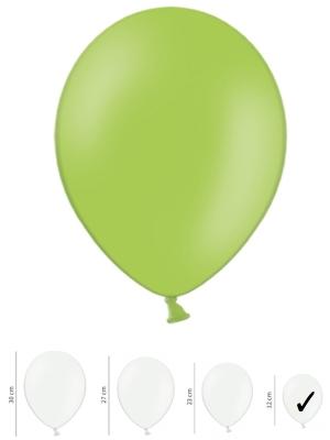 100 gab, Spilgti zaļš, pasteļtonis, 12 cm