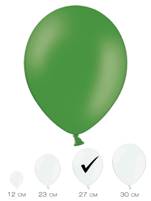 10 gab, Smaragda zaļš, pasteļtonis, 27 cm