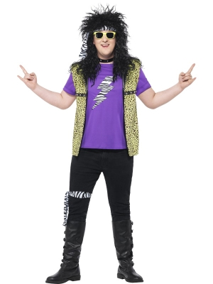 Curves 80s Rock Star Costume