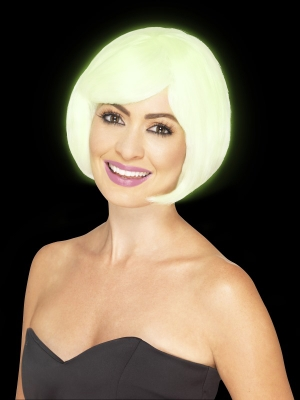 Bob Party Wig, Glow in the Dark
