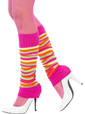 Legwarmers, Neon, Striped