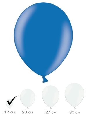 100 gab, Zils, metālisks spīdums, 12 cm