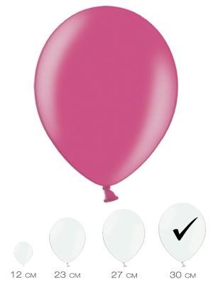 10 gab, Koši rozā, metālisks spīdums, 30 cm