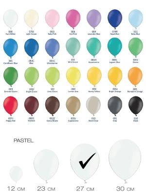 Разные цвета, пастельный тон, 27 см