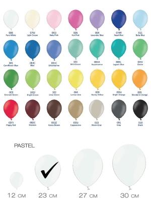 Разные цвета, пастельный тон, 23 см