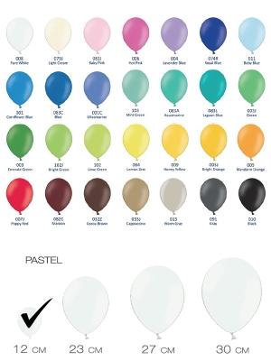 Разные цвета, пастельный тон, 12 см