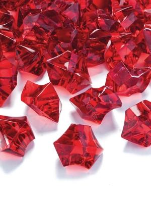 50 gab,Kristāla ledus, sarkans, 25 x 21 mm