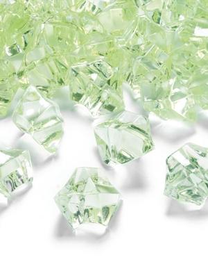50 gab, Kristāla ledus, zaļš, 25 x 21 mm