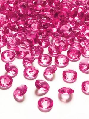 100 gab, Dimantu konfeti, tumši rozā, 12 mm