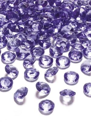 100 gab, Dimantu konfeti, violets, 12 mm
