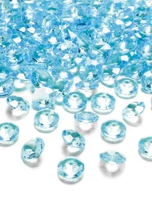 100 gab, Dimantu konfeti, tirkīza, 12 mm