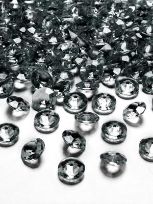 100 gab, Dimantu konfeti, pelēks, 12 mm
