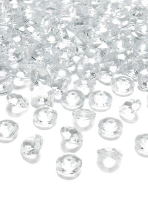 5 gab, Dimantu konfeti, bezkrāsains, 30 mm