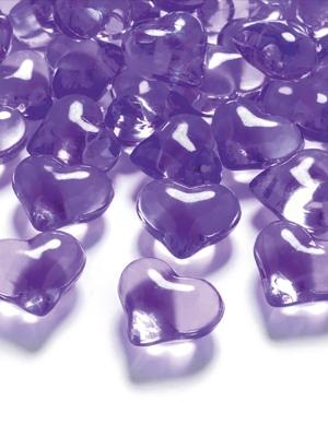 30 gab, Kristāla sirds, violeta, 21 mm