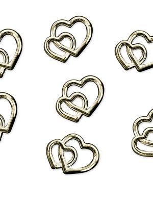25 gab, Rotājumu sirdis, zelta, 10 mm