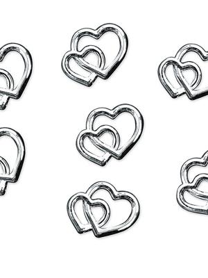 25 gab, Rotājumu sirdis, sudraba, 10 mm