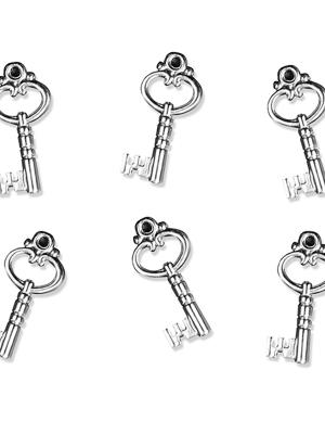 25 gab, Rotājumu atslēgas, sudraba, 26 mm