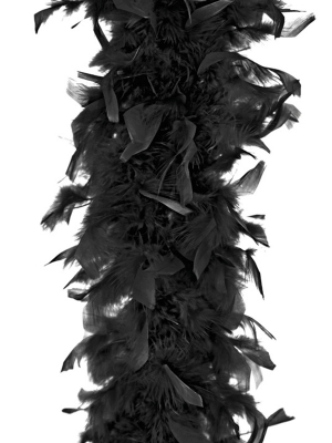 Boa, melns, 45 g, 180 cm
