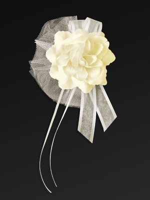 4 gab, Pušķis ar rozi, krēmkrāsa, 14 cm