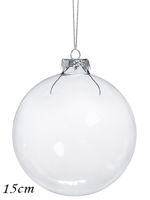 4 шт, Стеклянный шар, 15 см