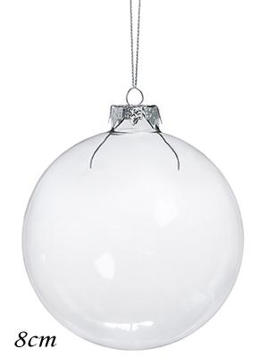 6 шт, Стеклянный шар, 8 см