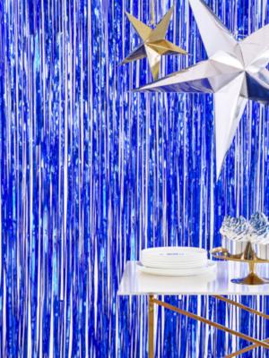 Lietutiņa aizskars, zils, 90 cm x 250 cm