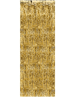 Party curtain, gold, 0.9 x 2.5 m