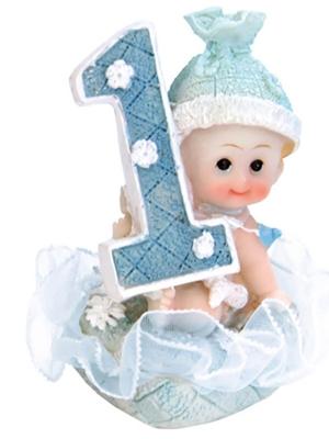 Figūra, 1. dzimšanas diena, zila, 7 cm