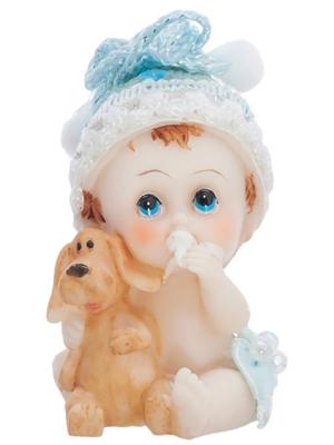 Figūra, Zēns ar suni, h 6 cm