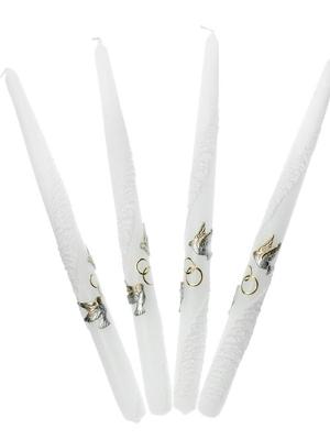 4 gab, Kāzu sveces, baltas, 29 cm
