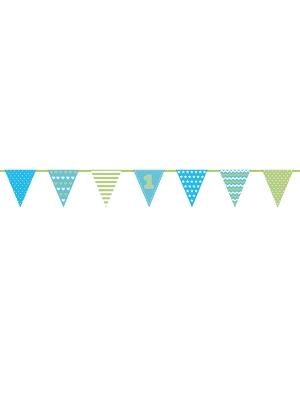 Papīra virtene 1 Dzimšanas diena, zila, 18 x 135 cm