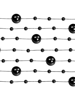 5 pcs, Pearl garlands, black, 1.3 m