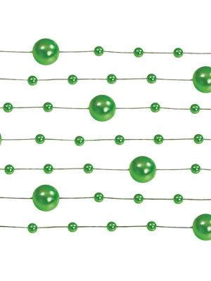 5 pcs, Pearl garlands, green, 1.3 m