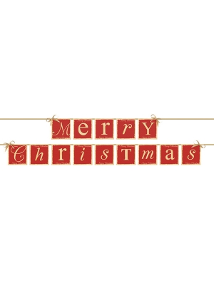 Baneris, Merry Christmas, 14.5 x 220 cm