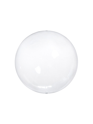 4 pcs, Glass balls with slots, colourless, 12cm