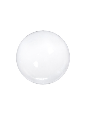 4 pcs, Glass balls with slots, colourless, 6cm