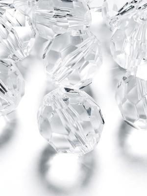50 pcs, Crystal beads, 10 mm