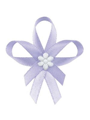 Līgavaiņa piespraude, gaiši violeta, 6 cm