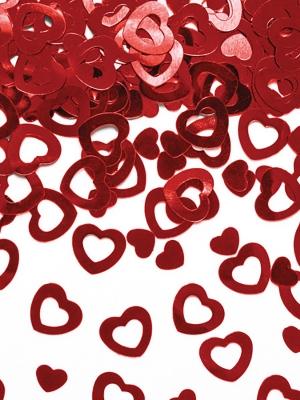 Konfeti sirsniņas, sarkanas, 15 gr