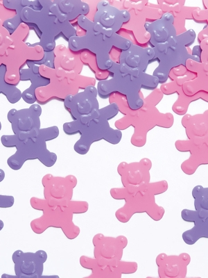 Confetti Bears, pink and violet, 15 g