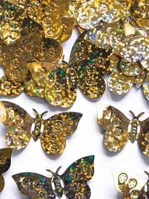Hologrāfisks konfeti taurenīši, zelta, 15 gr