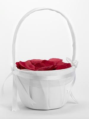 Groziņš, ziedlapiņām vai monētām, balts, 26 cm