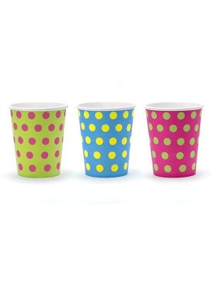 6 pcs, Polka Dots Cups, 260ml
