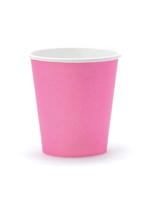 6 gab, Papīra glāzes, rozā, 200 ml