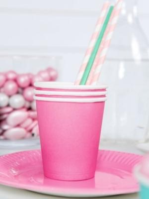 6 pcs, Cups, pink, 200m