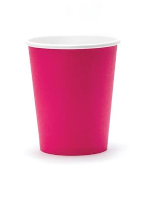 6 gab, Glāzes tumši rozā, 260 ml