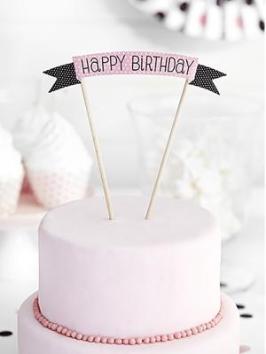 Tortes iesmiņš Daudz laimes dzimšanas dienā, 19 cm