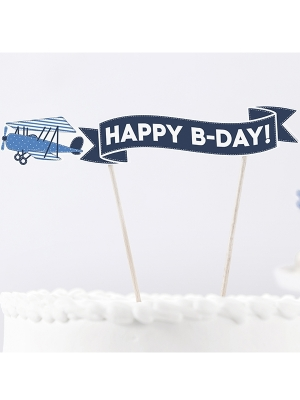 Tortes iesmiņš Little Plane, 18 cm