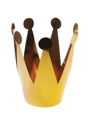 3 gab, Svētku cepurīte - zelta kronis, 7 cm